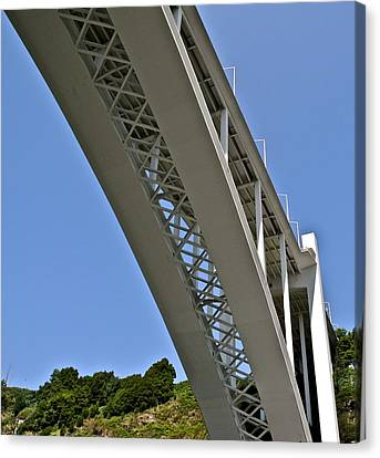 Canvas Print featuring the photograph Underside Of Beautiful Bridge by Kirsten Giving