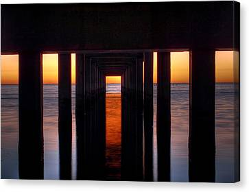 Underside Of The Pier Canvas Print by Pixel Perfect by Michael Moore
