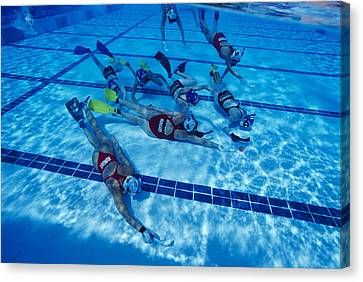European Championship Canvas Print - Underwater Hockey by Alexis Rosenfeld