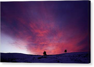 Canvas Print featuring the photograph Undine Sunset by J L Woody Wooden
