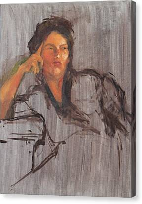 Unfinished Portrait Canvas Print by Becky Kim