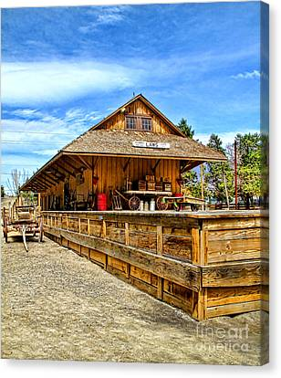 Unfinished Train Station Canvas Print by Jason Abando