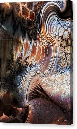 Canvas Print featuring the digital art Unfolding by Kim Redd