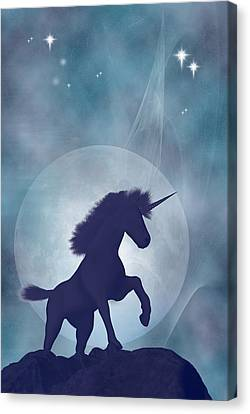 Unicorn Canvas Print by Carol and Mike Werner