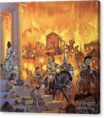 Unidentified Roman Attack Canvas Print by Angus McBride