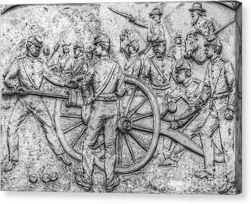 Union Artillery Civil War Drawing Canvas Print