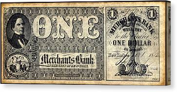 Union Banknote, 1862 Canvas Print by Granger