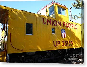Union Pacific Caboose - 5d19205 Canvas Print by Wingsdomain Art and Photography