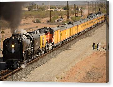 Union Pacific Grand Canyon State Steam Special Train Picacho Arizona November 15 2011 Canvas Print by Brian Lockett
