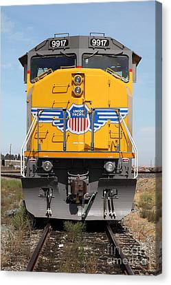 Union Pacific Locomotive Train - 5d18636 Canvas Print by Wingsdomain Art and Photography