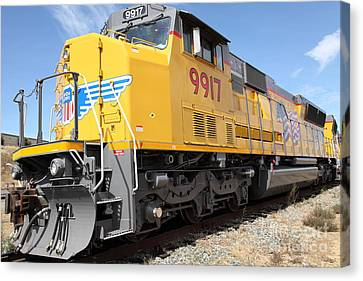 Benicia Canvas Print - Union Pacific Locomotive Train - 5d18643 by Wingsdomain Art and Photography