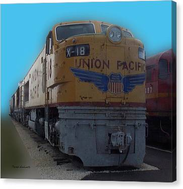 Union Pacific X 18 Train Canvas Print by Thomas Woolworth