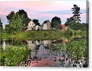Union River Sunset  Canvas Print by Greg DeBeck