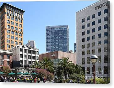 Union Square San Francisco Canvas Print by Wingsdomain Art and Photography