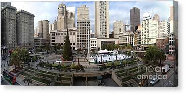 Union Square Sf Canvas Print by Ron Bissett