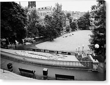 Union Terrace Canvas Print - Union Terrace Gardens Aberdeen City Centre On A Dull Wet Day Scotland Uk by Joe Fox