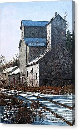Unionville Railyard Canvas Print