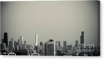 Unique Buildings In Chicago Skyline   Canvas Print