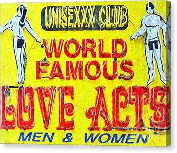 Unisexxx Club Canvas Print by Wingsdomain Art and Photography