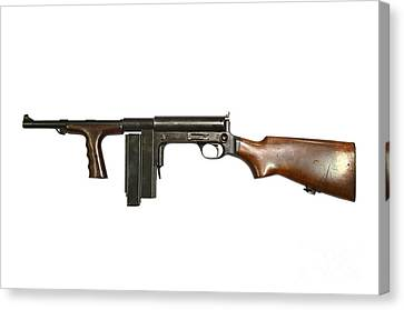 United Defense M42 Submachine Gun Canvas Print by Andrew Chittock