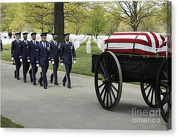 United States Air Force Honor Guard Canvas Print by Stocktrek Images