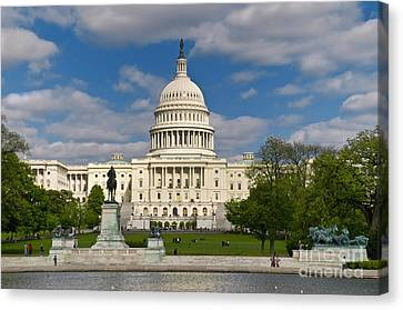 Canvas Print featuring the photograph United States Capitol by Jim Moore