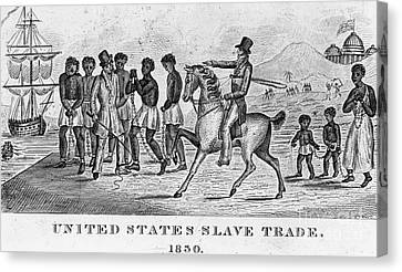 United States Slave Trade Canvas Print by Photo Researchers