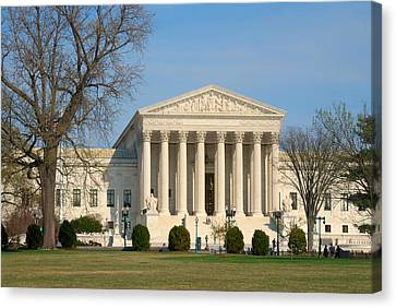 Canvas Print featuring the photograph United States Supreme Court by Steven Richman