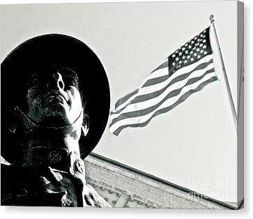 United We Stand Theme Canvas Print by Syed Aqueel
