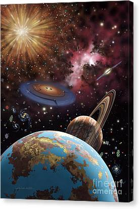 Universe II Canvas Print by Lynette Cook