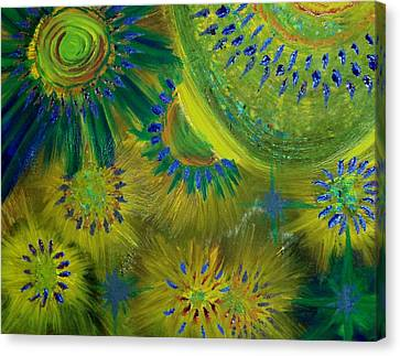 Universe Of Color Canvas Print by Evelyn SPATZ