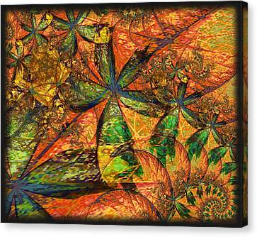 Canvas Print featuring the digital art Unleashed by Kim Redd