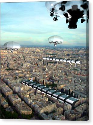Unmanned Aircraft, Artwork Canvas Print by Christian Darkin