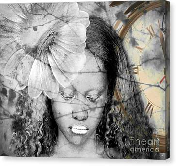 Painted Details Canvas Print - Unmatched Dreams  by Fania Simon