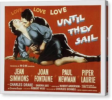 Until They Sail, Paul Newman, Jean Canvas Print