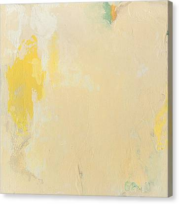 Untitled Abstract - Bisque With Yellow Canvas Print by Kathleen Grace