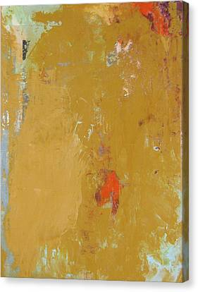 Untitled Abstract - Ochre Cinnabar Canvas Print by Kathleen Grace
