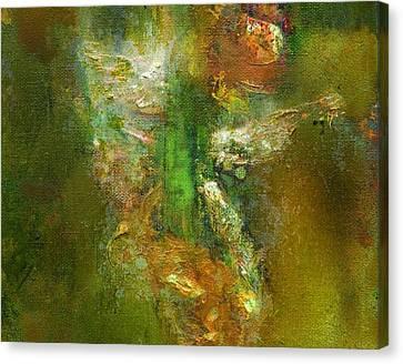 Untitled Iris Canvas Print by Petro Bevza