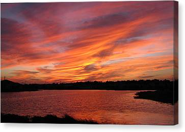 Canvas Print featuring the photograph Untitled Sunset-2 by Bill Lucas