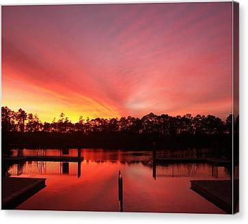 Canvas Print featuring the photograph Untitled Sunset-3 by Bill Lucas