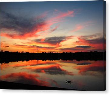Canvas Print featuring the photograph Untitled Sunset-4 by Bill Lucas