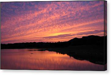 Canvas Print featuring the photograph Untitled Sunset-6 by Bill Lucas