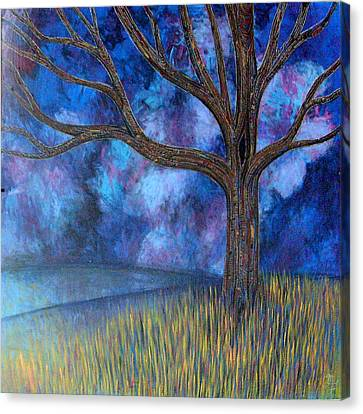Canvas Print featuring the painting Untitled Tree 0001 by Monica Furlow