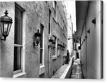 Up An Alley Canvas Print by Bob Wall