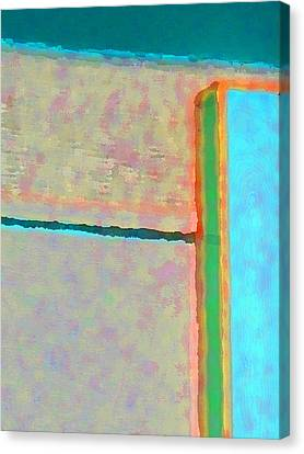 Canvas Print featuring the digital art Up And Over by Richard Laeton
