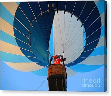Canvas Print featuring the photograph Up Into The Blue. Oshkosh 2012. by Ausra Huntington nee Paulauskaite