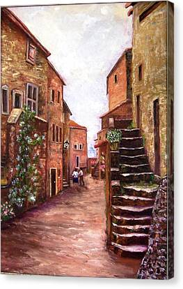 Up The Alley Canvas Print