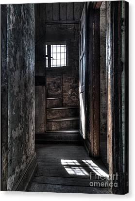 Up The Stairs Canvas Print by Steev Stamford