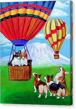 Up Up And Away - Pembroke Welsh Corgi Canvas Print
