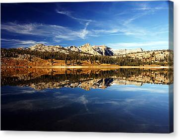 Upper Blue Lake Mirror 3 Canvas Print by Michael Courtney